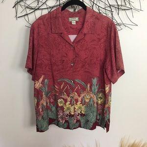 Silk vintage tommy bahama floral shirt.